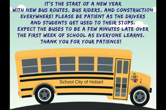 Have bus patience with everyone getting use to the start of the school year.