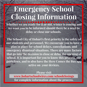 Emergency School Closing Info