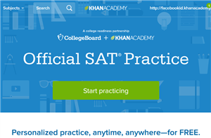 Official SAT Practice with Khan Academy - https://www.khanacademy.org/sat