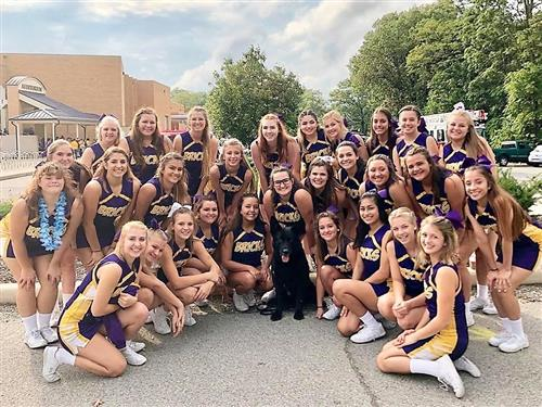 Cheerleaders and scout