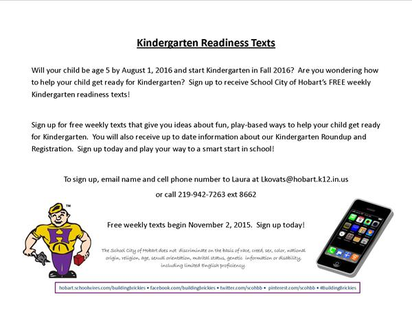 Kindergarten Readiness Texts