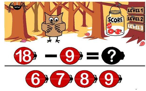 Lady Bugs Math Game Image