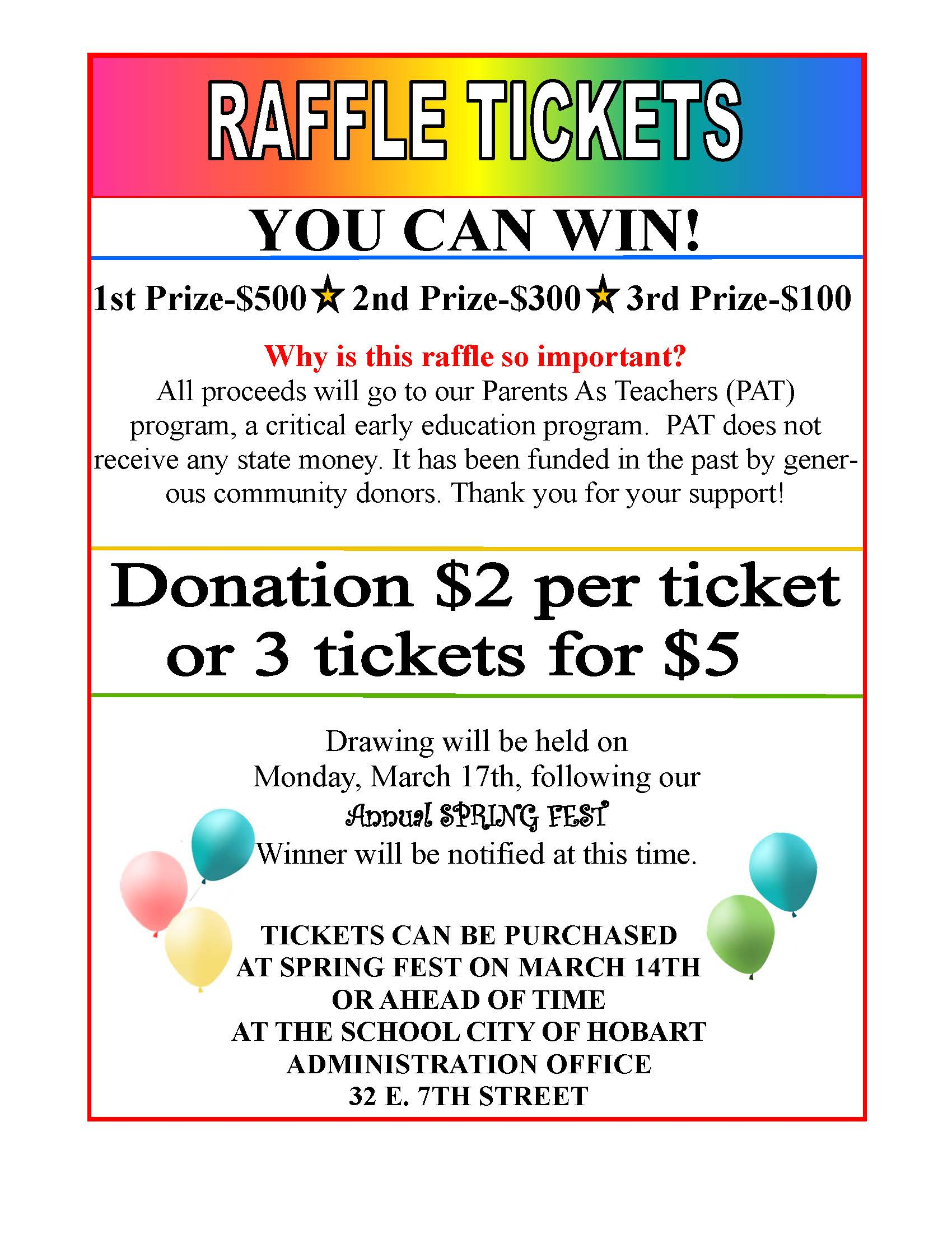 sample fundraising flyer